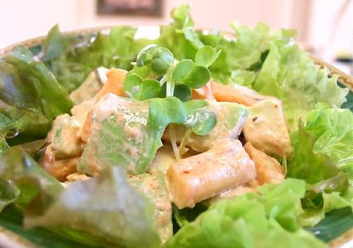 アボガドと大根キムチのサラダ