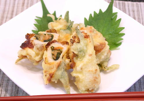 ちくわのキムチ天ぷらレシピ