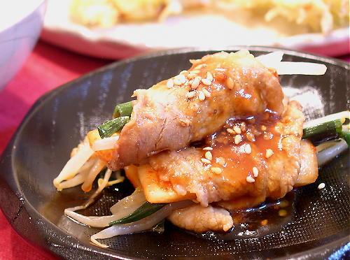 大根キムチの豚肉巻きレシピ