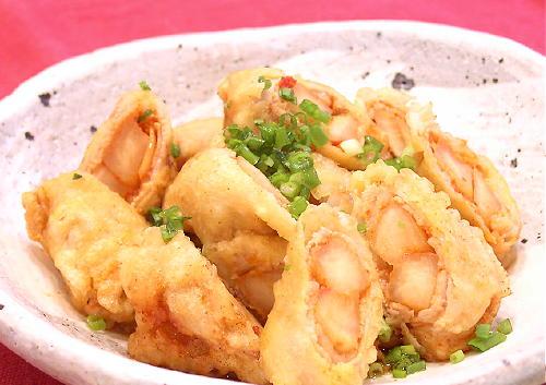 肉巻き大根キムチ天ぷらレシピ