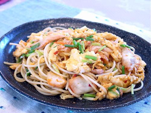 いり卵キムチスパゲティレシピ