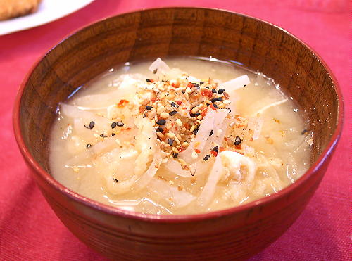 大根と油揚げのお味噌汁レシピ