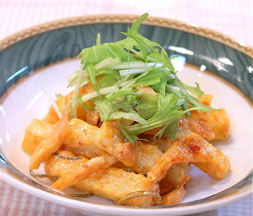 長いもと割り干しキムチの味噌マヨネーズ和えレシピ
