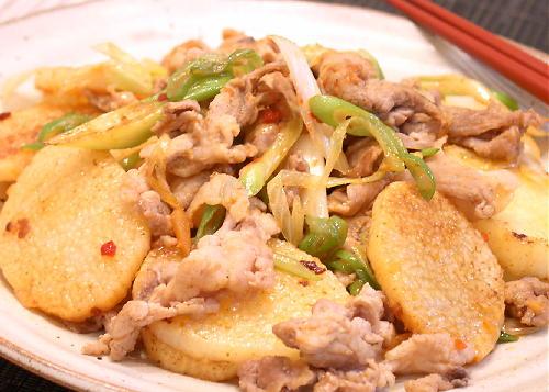 豚肉と長いものキムチ炒めレシピ