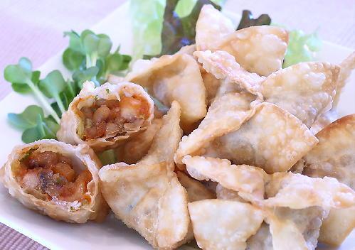 納豆とキムチの揚げ餃子レシピ