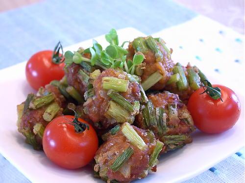 キムチ肉だんごの変わり揚げレシピ