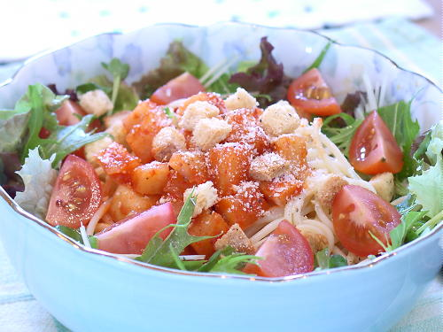 大根キムチのサラダスパゲティレシピ