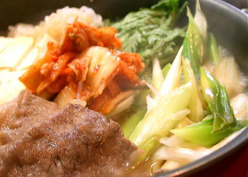 キムチレシピ(キムチすき焼き)