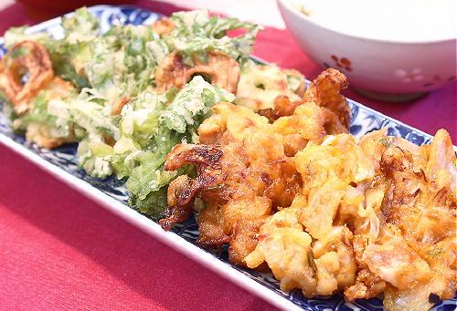 キムチ天ぷらレシピ