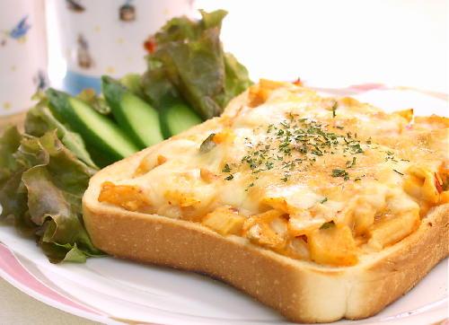 キムマヨチーズトーストレシピ