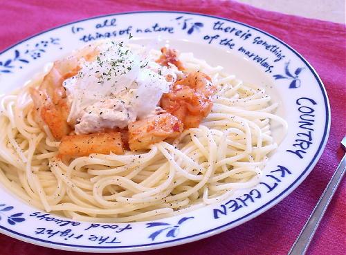 キムチツナスパゲティ