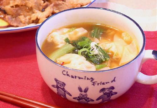 キムチワンタンスープレシピ
