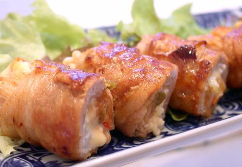 えのきとキムチの豚肉巻きレシピ