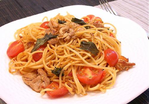 豚肉とトマトのキムチスパゲティレシピ