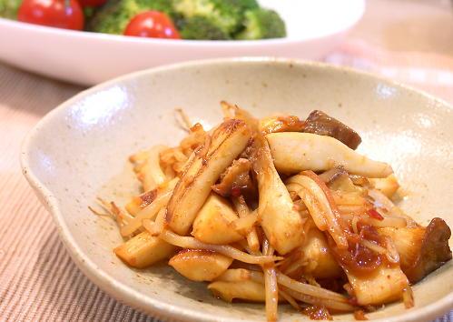 エリンギとモヤシのピリ辛炒めレシピ