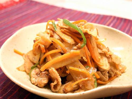 ごぼうとキムチの炒め物レシピ