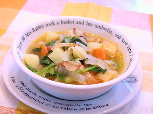 具だくさんキムチスープレシピ