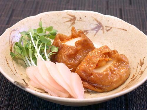 キムチとお餅のおいなりさんレシピ