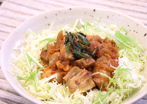 豚の角煮丼レシピ
