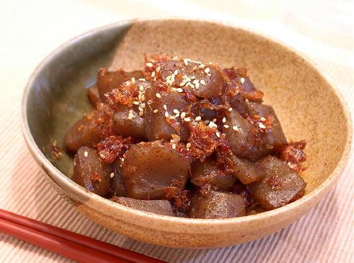 こんにゃくのピリ辛炒めレシピ