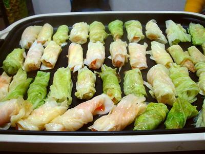 キムチきゃべ餃子レシピ