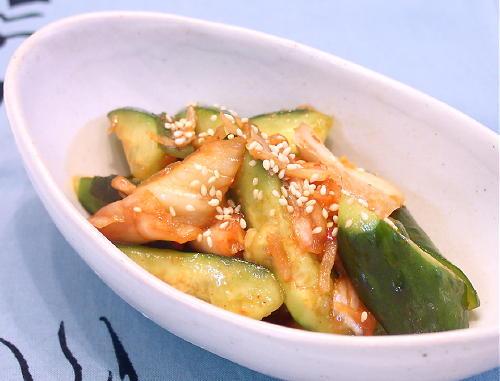 きゅうりのキムチ和えレシピ