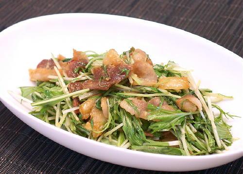 水菜と豚肉のキムチ炒めレシピ