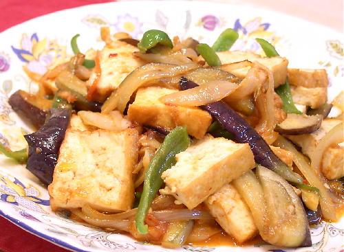 なすのピリ辛中華味噌炒めレシピ