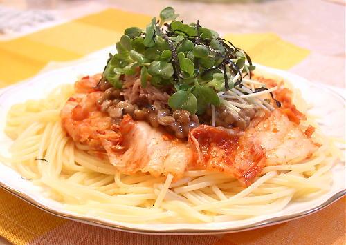 納豆キムチスパゲティpart2レシピ