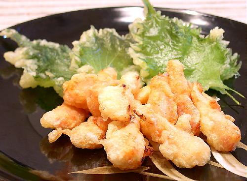 キムチらっきょう天ぷらレシピ
