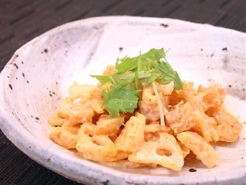 大根キムチとレンコンのサラダレシピ