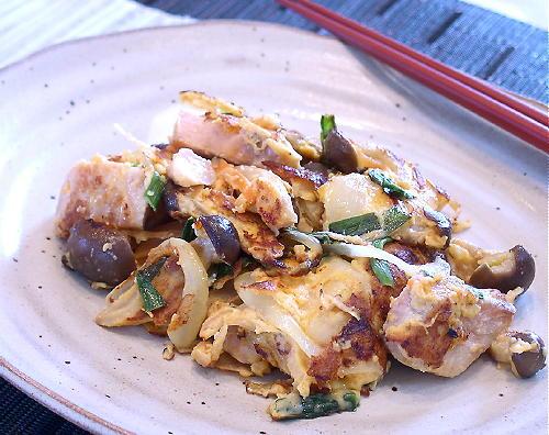 鮭と野菜のキムチピカタレシピ