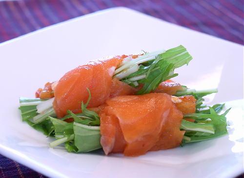 大根キムチのサーモン巻きレシピ