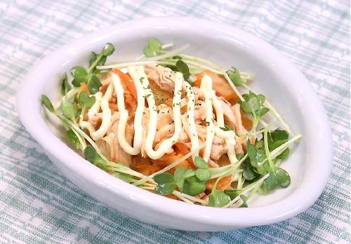 キムチとササミのマヨネーズ和えレシピ