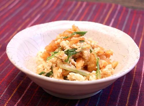キムチの白和えレシピ
