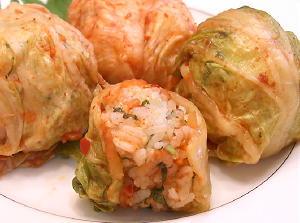 しそご飯のキムチ巻きレシピ