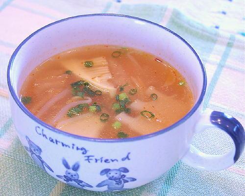 もやしとたけのこのキムチスープレシピ