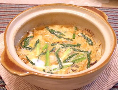 キムチ入り卵とじレシピ