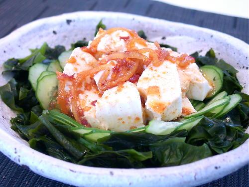 豆腐とわかめのピリ辛サラダレシピ