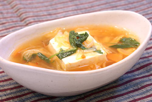 豆腐のキムチあんかけレシピ