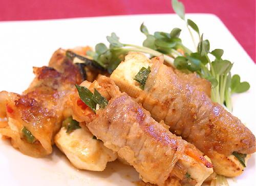 豆腐とキムチの豚肉巻きレシピ