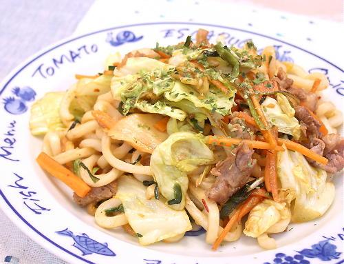 キムチ焼きうどんレシピ