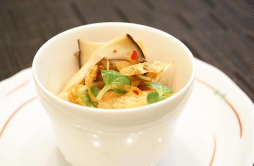 今日のキムチ料理レシピ:油あげとエリンギのキムチ和え
