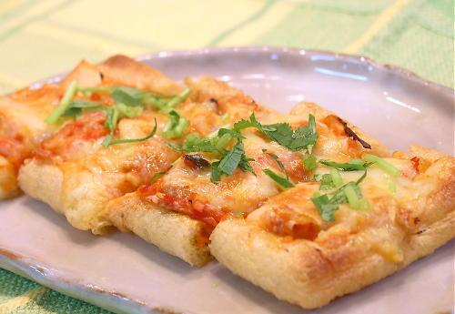 油揚げキムチピザレシピ