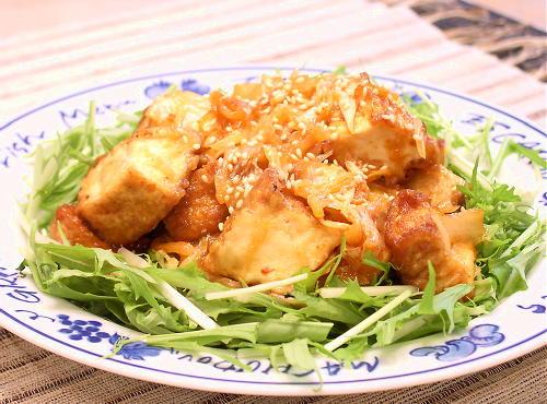 揚げ厚揚げとキムチの炒め煮レシピ
