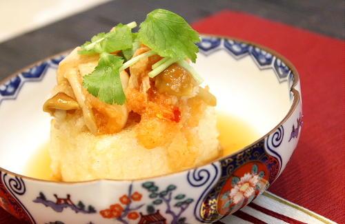 キムチの揚げ出し豆腐レシピ