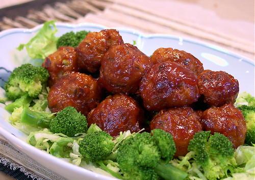 キムチ肉団子の甘酢あんかけレシピ