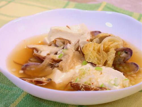 アサリと豆腐のキムチスープレシピ
