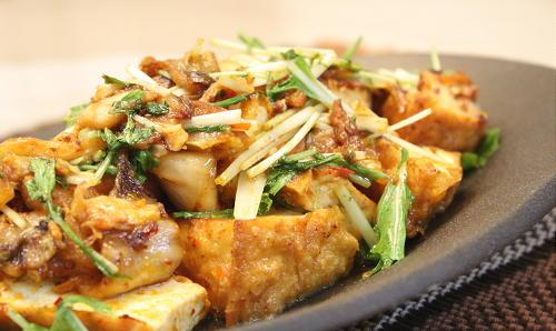 厚揚げとキムチのマヨネーズ炒めレシピ