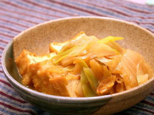 厚揚げのキムチ煮レシピ